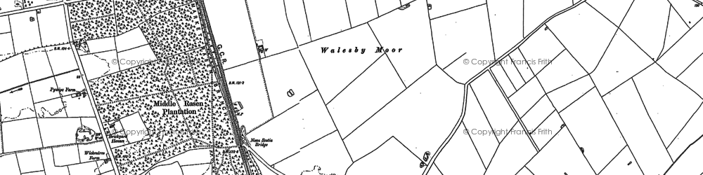Old map of Willingham Forest in 1886