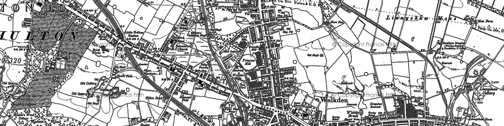 Old map of Linnyshaw in 1891