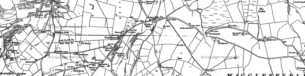 Old map of Windyway Ho in 1907
