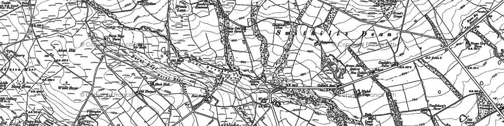 Old map of Adam Hill in 1892