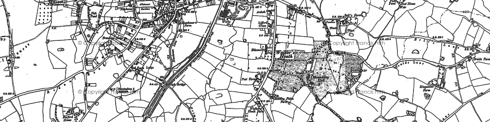 Old map of King's Norton in 1882