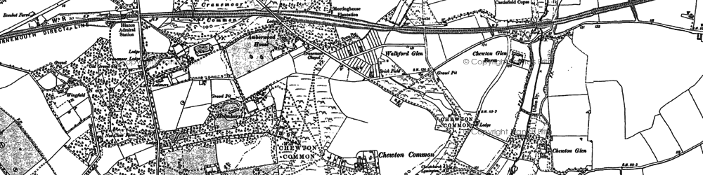 Old map of Walkford in 1907