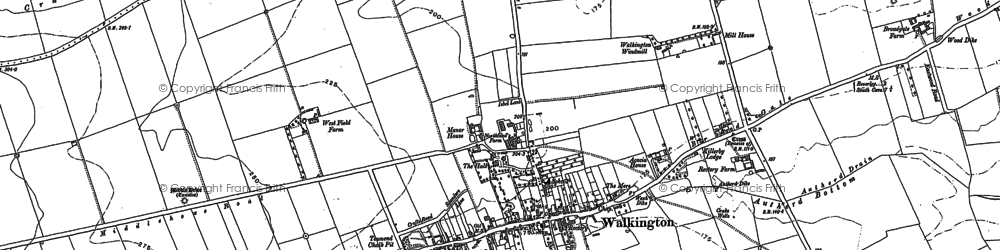 Old map of Walkington in 1853