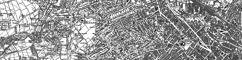 Old map of Hillsborough in 1890