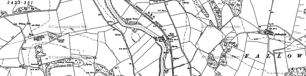 Old map of Wall in 1895
