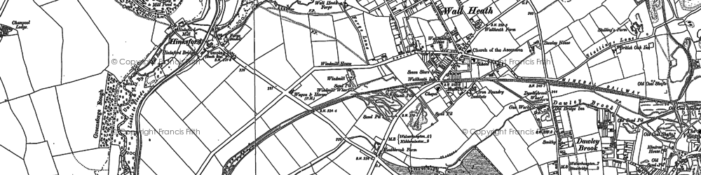 Old map of Ashwood in 1881