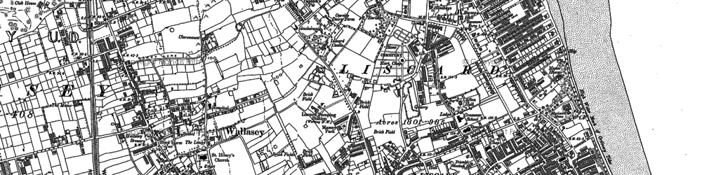 Old map of Wallasey in 1909