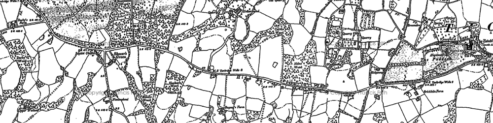 Old map of Bardown in 1908