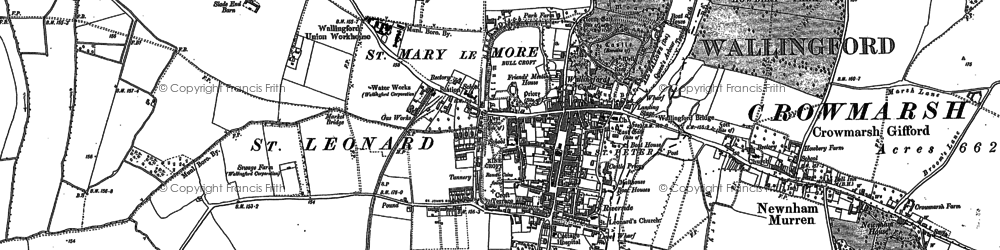 Old map of Wallingford in 1910