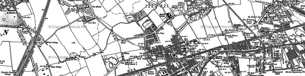 Old map of Wallsend in 1895