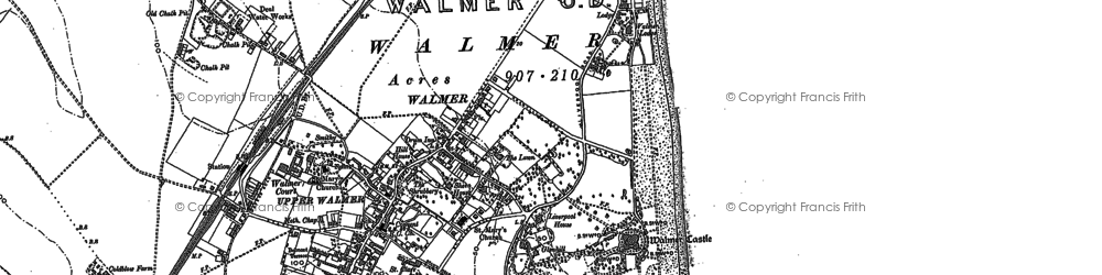 Old map of Walmer in 1896
