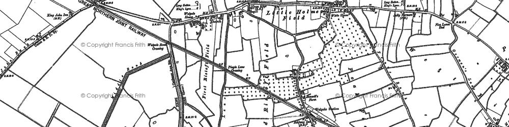 Old map of Wingland Grange in 1904