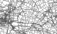 Old Map of Walrow, 1884 - 1885
