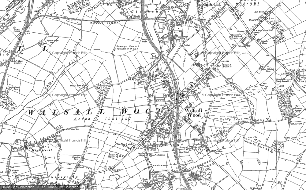 Old Maps of Walsall Wood Francis Frith