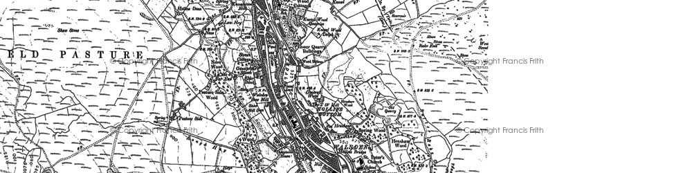 Old map of Walsden in 1905