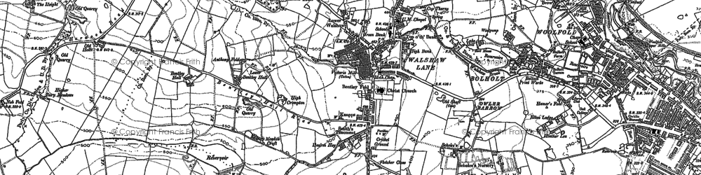 Old map of Woolfold in 1890