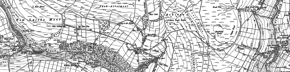 Old map of Widdop Gate in 1892