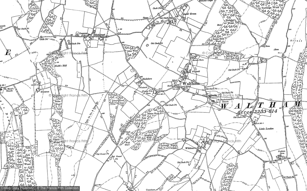 Old Map of Historic Map covering Whiteacre in 1896