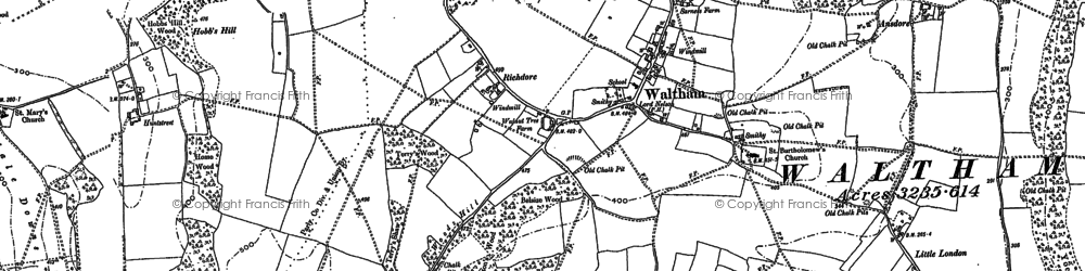 Old map of Whiteacre in 1896