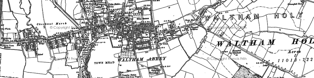 Old map of Aimes Green in 1895