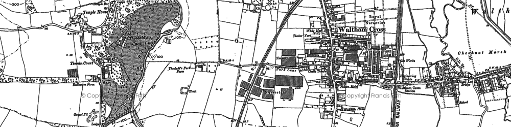 Old map of Bury Green in 1912