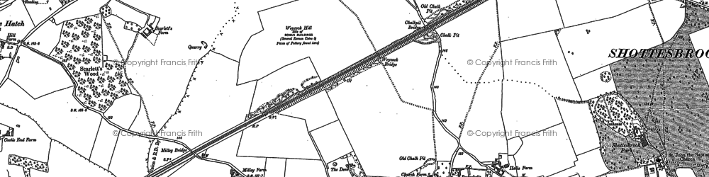Old map of Waltham St Lawrence in 1910