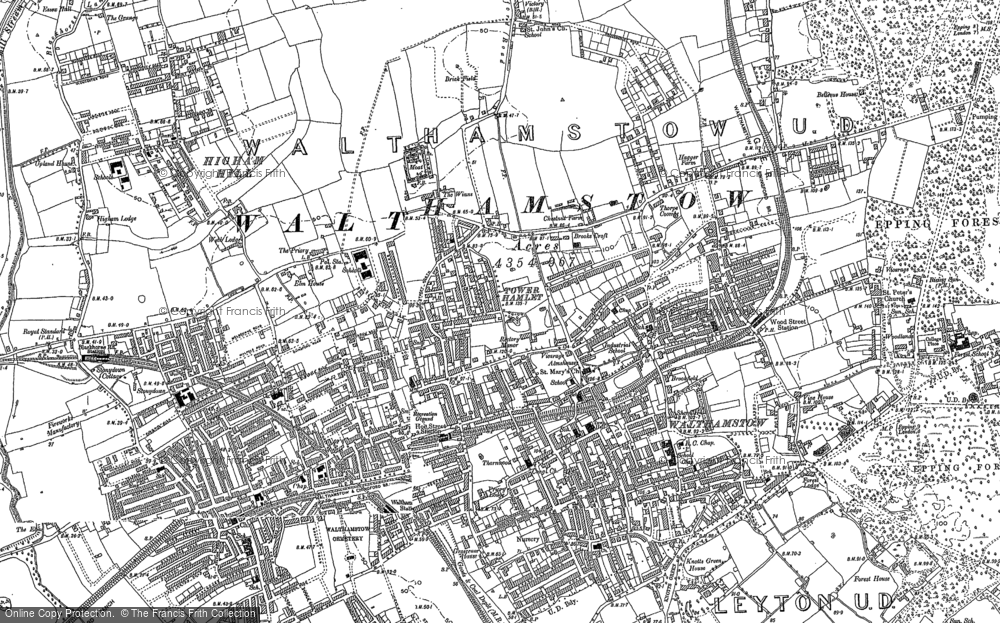 Map of Walthamstow, 1894 - 1895