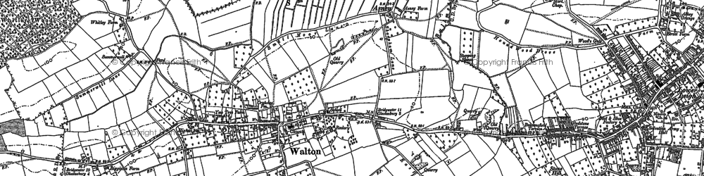Old map of Asney in 1885