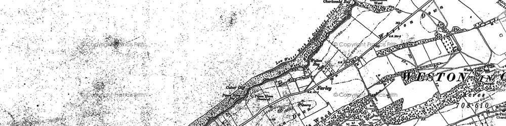 Old map of Weston Down in 1883