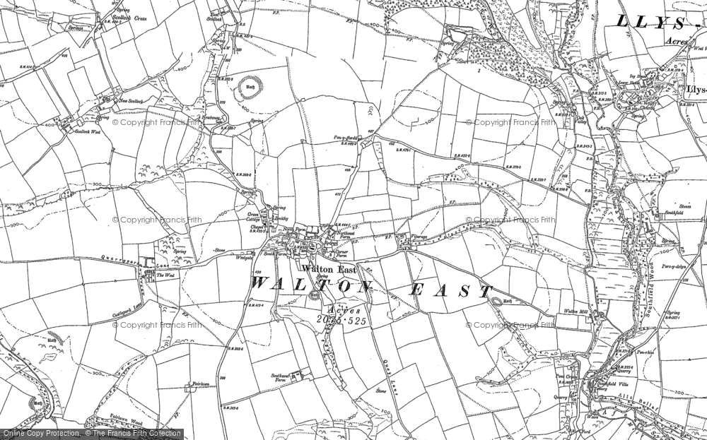 Old Map of Historic Map covering Afon Syfynwy in 1887