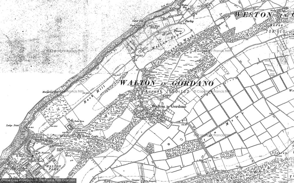 Old Map of Walton-in-Gordano, 1883 - 1902 in 1883