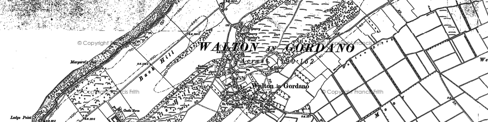 Old map of Walton in Gordano in 1883