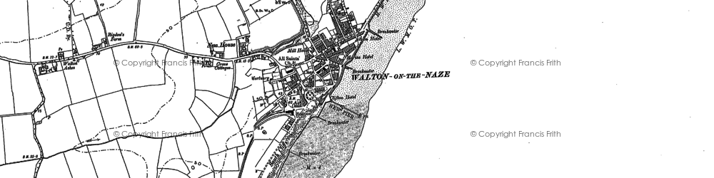 Old map of Walton-On-The-Naze in 1896