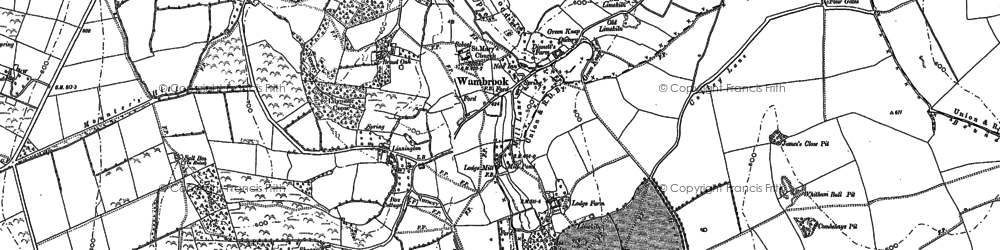 Old map of Wildway Ho in 1887