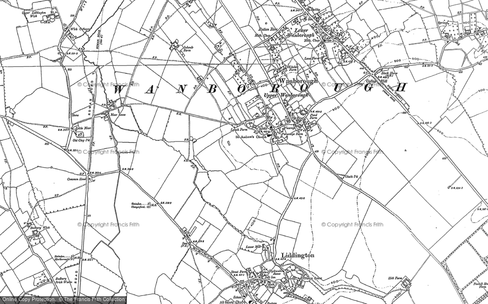 Old Map of Wanborough, 1910 - 1922 in 1910