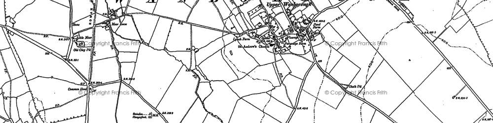 Old map of Wanborough in 1910