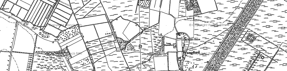 Old map of Wiltonhill Wood in 1883