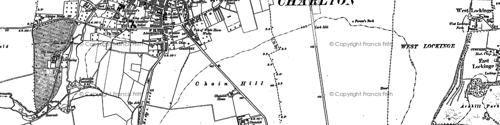 Old map of Wantage in 1876