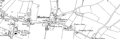 Old map of Bent, The centred on your home