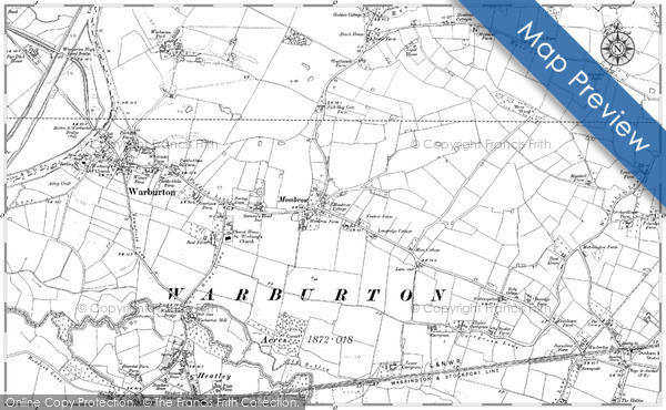 Historic Map covering Bent, The