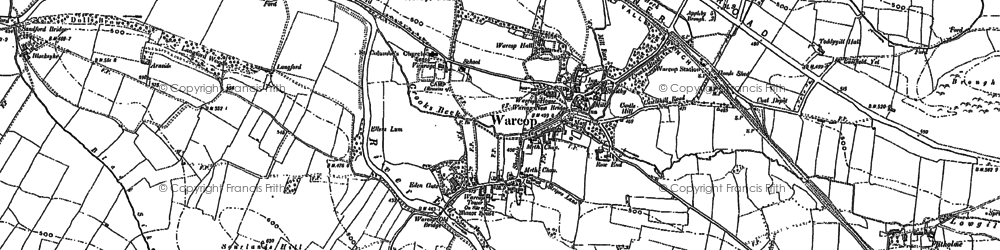 Old map of Toddygill Hall in 1897