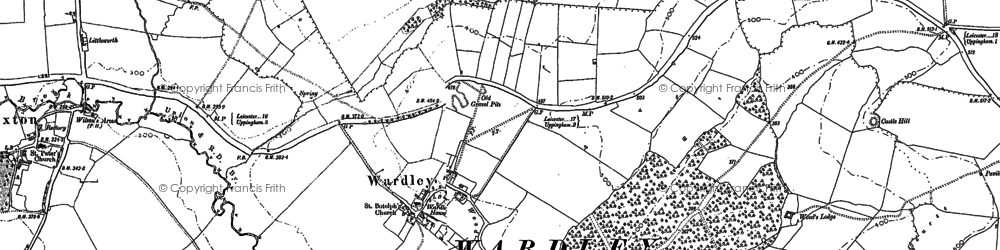 Old map of Allexton Wood in 1902