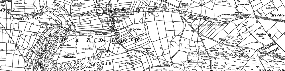 Old map of White Rake in 1879