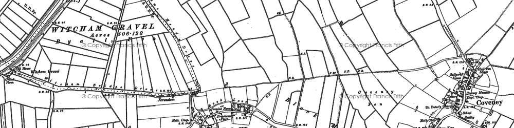 Old map of Witcham Hythe in 1886