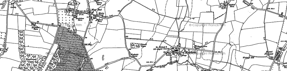 Old map of Warfield in 1898