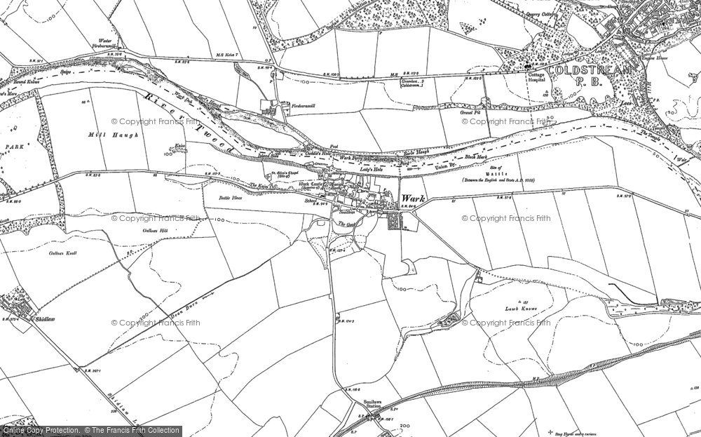 Old Map of Historic Map covering Lees in 1896