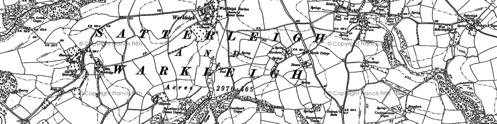 Old map of Winson in 1887