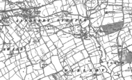 Old Map of Warlaby, 1891 - 1892