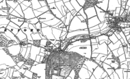 Old Map of Warnford, 1895