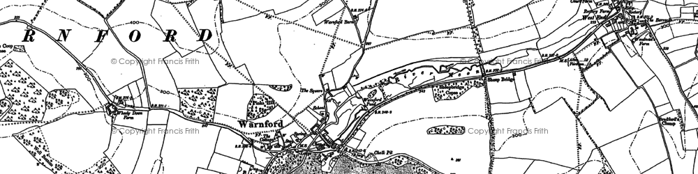 Old map of Wheely Down in 1895